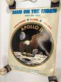 Apolo landing on the moon poster