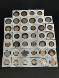 Foreign Coin Lot, 1940s-2000s, France, Europe, Arabic, Korea, New Zealand, Canada, more