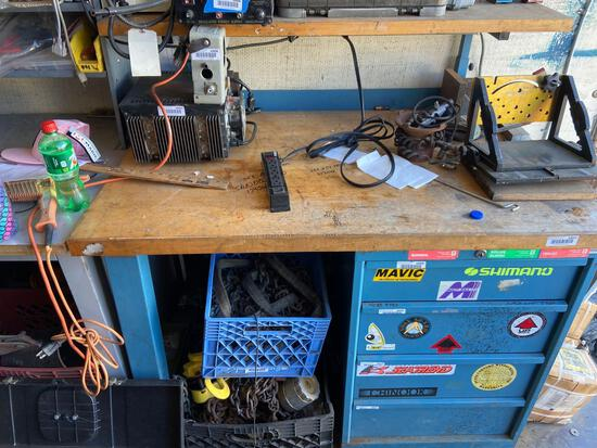 techbench Workbench with power strip no contents