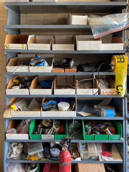 shelves and contents TR5414 soldering wire etc