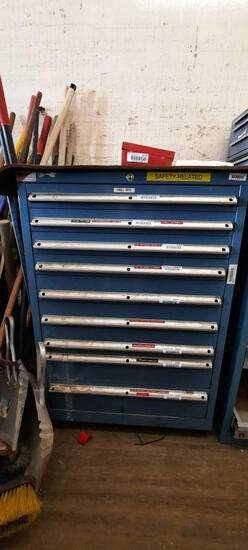 Toolbox, Contents Included, does not lock top removed 38in Tall, TR5414