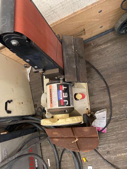 Jet vacuum air dual sander and disc grinder TR5141