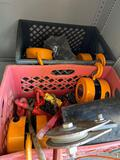 Crates of chain and winches TR5414 hoists chainfalls turnbuckles