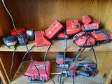 Milwaukee Drill, Sawzall, Jigsaw, Batteries, Chargers, TR5414