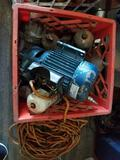 Crate Full of Regulators And Motor