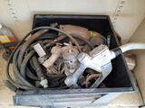 Bin of Gas Pump Handles, Hosing, Tank Heads, Yrd