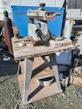 740 Powershop Radial Arm Saw, Heavy Duty Vise, on Rolling Cart, yrd