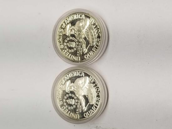 1976 Bicentennial 40% Silver Washington Quarters 2 Units