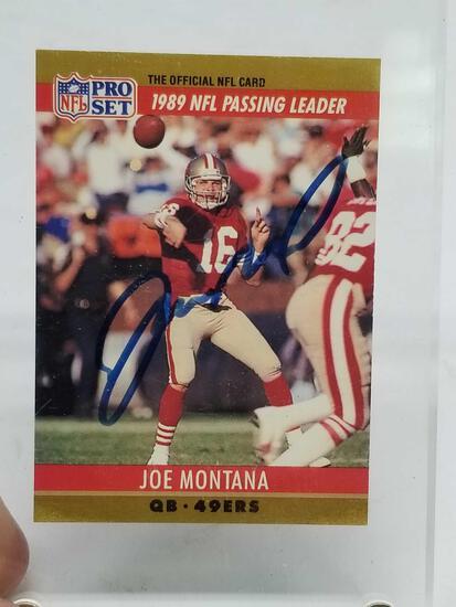 1990 Pro Set Joe Montana Signed Card
