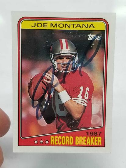 1988 Topps Joe Montana Signed Card