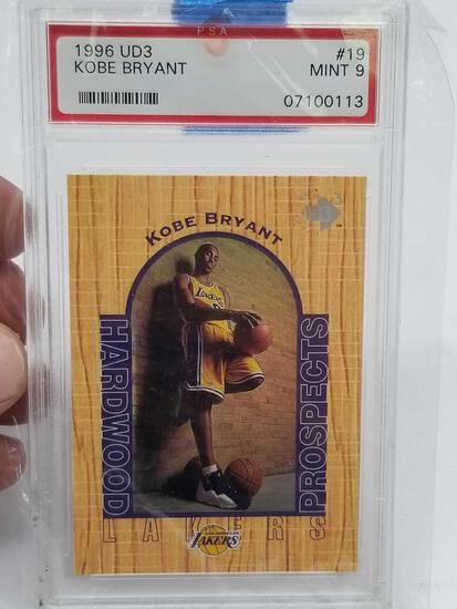1996 UD3 Kobe Bryant PSA Mint 9 Graded Card