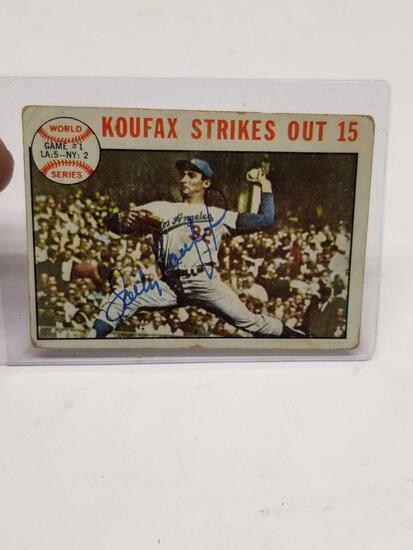 1964 Topps Sandy Koufax Signed Card