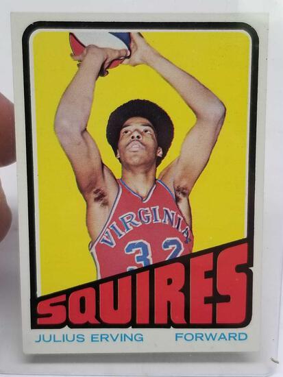 1972-1973 Julius Erving Rookie Card Squires