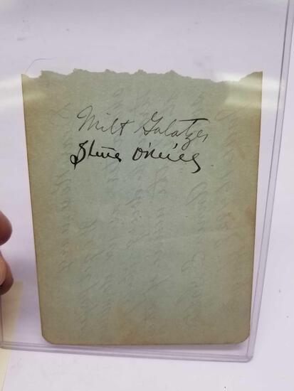 1927 Letter Signed Steve Oneill Milt Galatzer