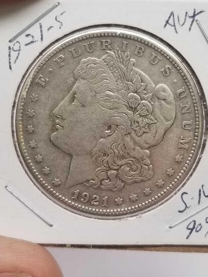 1921 S Morgan Silver Dollar Au 90% Silver