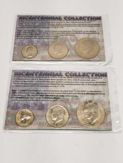 Bicentennial Collection 1976 Dollar Half Quarter 2 Units