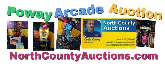 Poway Arcade Games Auction