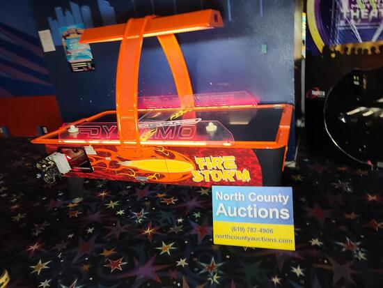Firestorm Air Hockey by Dynamo Commercial Flashing Lights