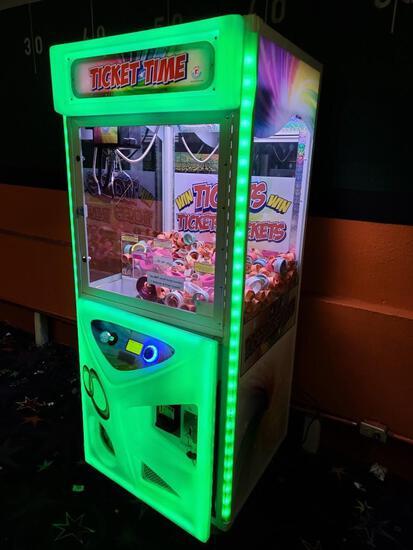 Ticket TIme Arcade Game LED Glowing + Crane
