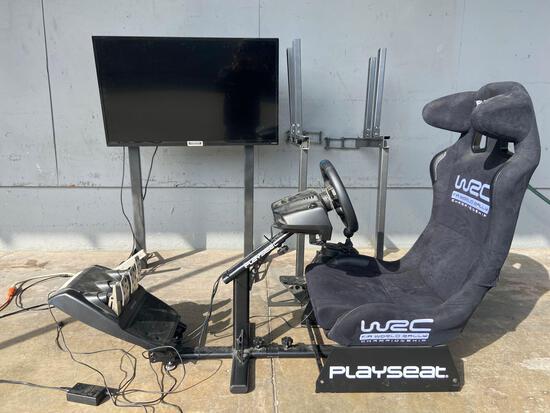 Logitech Racing Simulator and Tv + 2 extra tv mounts
