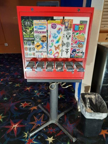 Small Vending Machine Stickers Temp Tattoos