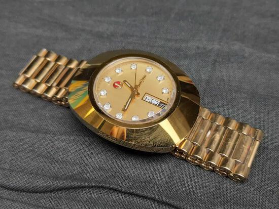 Vintage Rado Diaster 636.0313.3 Gold Plated Men's Watch