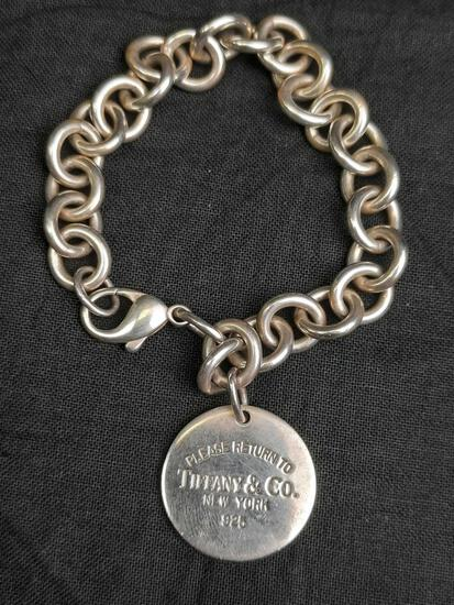 Tiffamy 925 Sterling Silver Bracelet 36.35 grams