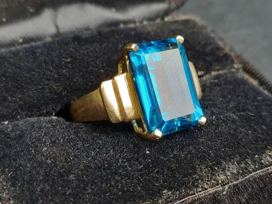 Womens 10K Gold & Sapphire Ring Size 7
