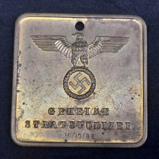 Nazi State Police Badge