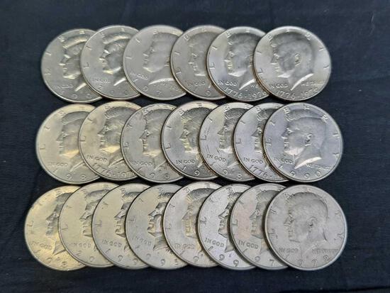 21 Kennedy Half Dollars, 1970s-2000s