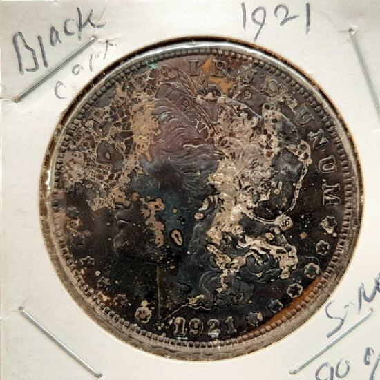 1921 Morgan Black Dollar Toned 90% Silver