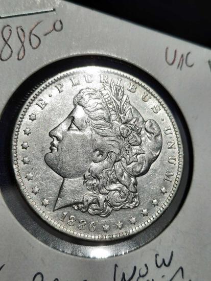 1886-O Morgan Silver Dollar Frosty Rare Date Original Beauty premium rare coin from estate
