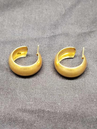 10k Gold Hoop Earrings 4.05 Grams