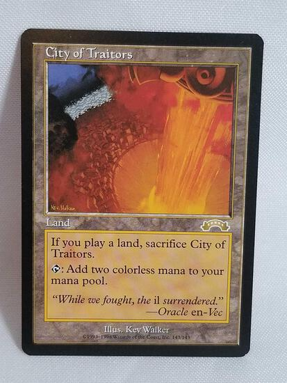 1998 Magic the Gathering Exodus City of Traitors Card