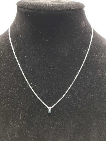 Blue Sapphire 925 Silver Necklace