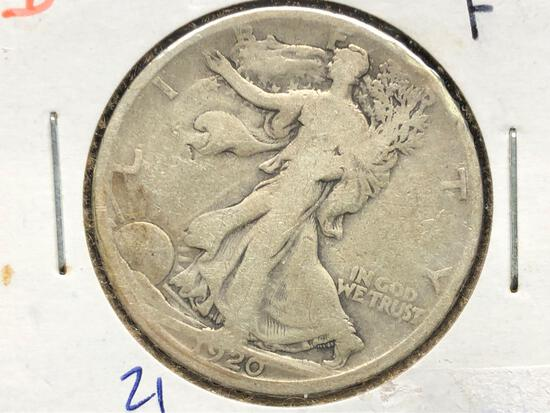 1920-D Standing Liberty Half Dollar