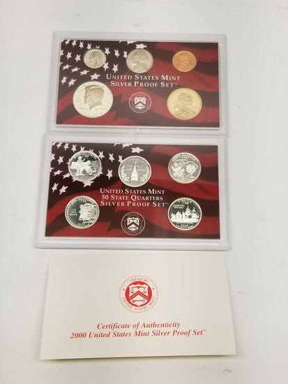 2000 US Mint Silver Proof Set 90% Silver