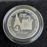 1985 Hecla Mining Co. Proof Cameo 1 Troy Silver Oz Silver Bullion Rare