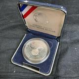 1991 USO Proof Silver Dollar .76 Troy Oz Fine Silver OG Mint Box