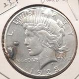 1923-S Silver Peace Dollar Damaged 90% Silver