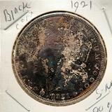 1921 Morgan Black Dollar Toned 90% Silver