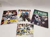Hockey Signed Photos Kings Sharks Ducks 5 Units