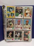 Binder Full of Baseball Basketball Cards 1970s