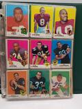 Binder of Football Baseball Cards 60s 70s