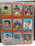 Binder Full of Vintage Football Basketball Cards