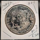 1921 Morgan Silver Dollar 90% Silver blackened