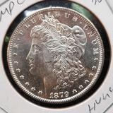 1879-S Morgan Silver Dollar gem bu dmpl nice glassy mirrors frosty white rare