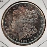 1897-S Morgan Silver Dollar Purple Rainbow gem bu rare beauty 90% Silver