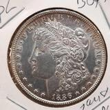 1886 Morgan Silver Dollar gem bu toned pl beauty 90% silver
