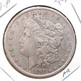 1891 Morgan Silver Dollar au+ original 90% Silver